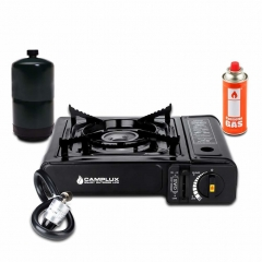 Camplux Dual Fuel Propane & Butane Portable Outdoor Camping Gas Stove Single Burner with Carry Case