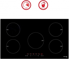 "Gasland Chef IH90BF Induction Cooktop, 36"" Built-in 5 Burners Electric Induction Stove Top, Black"