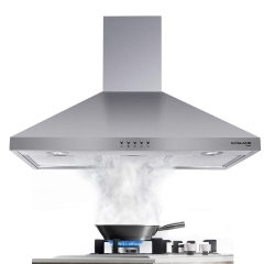 Gasland Chef PR30SP 30-inch Stainless Steel Wall Mount Ducted Kitchen Hood, 3 Speed 450-CFM Push Button Control Exhaust Hood Fan