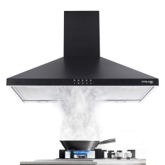 Gasland Chef PR30BP Black 30-inch Wall Mount Kitchen Hood, 3-Speed 450-CFM Push Button Control Ducted Exhaust Hood Fan, Aluminum Mesh Filter