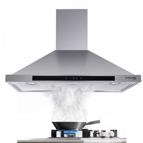 Gasland Chef PR30SS 30-inch Stainless Steel Wall Mount Kitchen Hood, 3 Speed 450-CFM Sensor Touch Control Exhaust Hood Fan