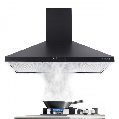 Gasland Chef PR36BP Black 36-inch Wall Mount Kitchen Hood, 3-Speed 450-CFM Push Button Control Ducted Exhaust Hood Fan
