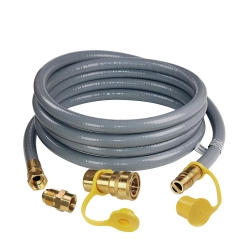 Gasland Natural Gas Hose, 12Ft 1/2-inch ID Natural Gas Hose with Quick Connect/Disconnect Fittings & 3/8 Female to 1/2 Male Adapter