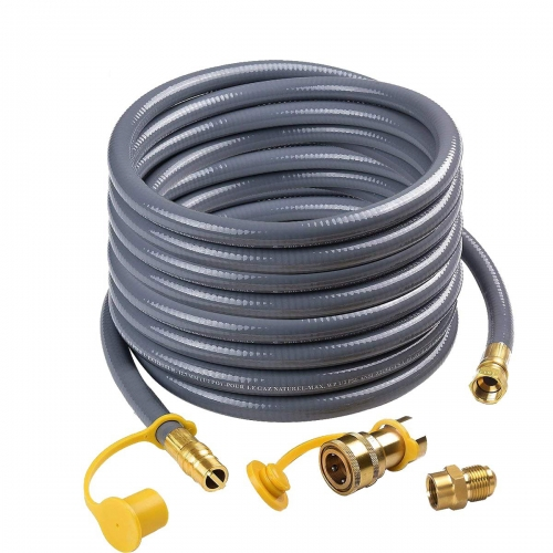 "Gasland Natural Gas Hose, 24 feet Natural Gas Hose with 1/2"" Male Flare Quick Connect/Disconnect for BBQ Gas Grill"