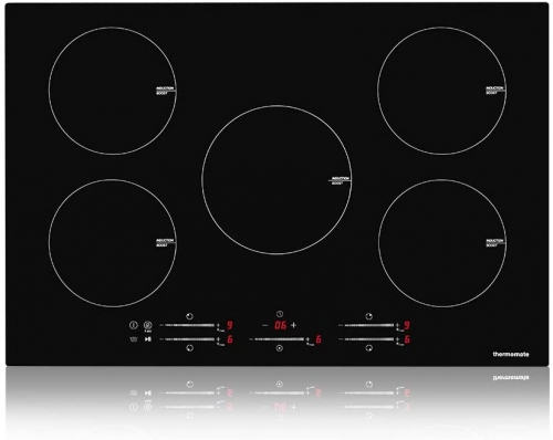 thermomate 30 Inch Built-in Induction Stove Top, 240V Electric Smoothtop with 5 Boost Burner, 9 Heating Level, Timer & Kid Safety Lock, Sensor Touch C