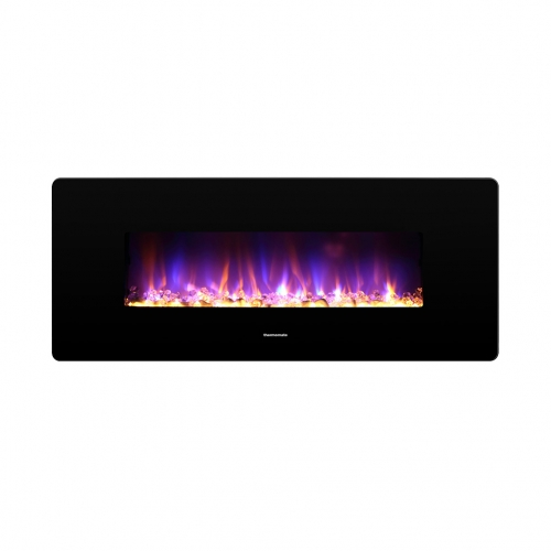 thermomate 42 Inch Electric Fireplace with Thermostat, 1400W Electric Heater with Remote Control and Timer, CSA Certified, Black
