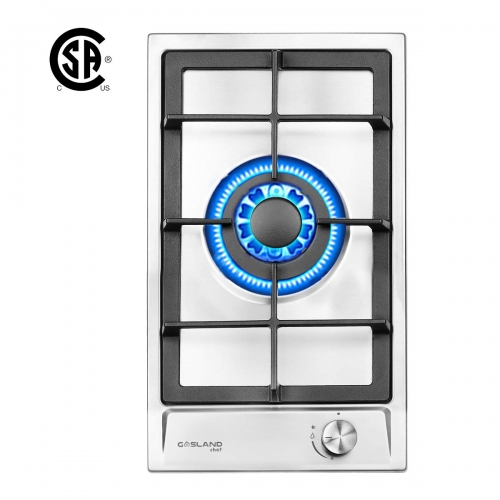 "Gasland Chef GH12SF Gas Cooktop, 12"" Built-in Stove Top with One Sealed Burner LPG/NG, Stainless Steel"