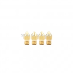 8Pcs Mixed Sizes 0.5mm0.4mm0.3mm0.2mm Extruder Brass Nozzle for MK8 Extruder 1.75mm Filament