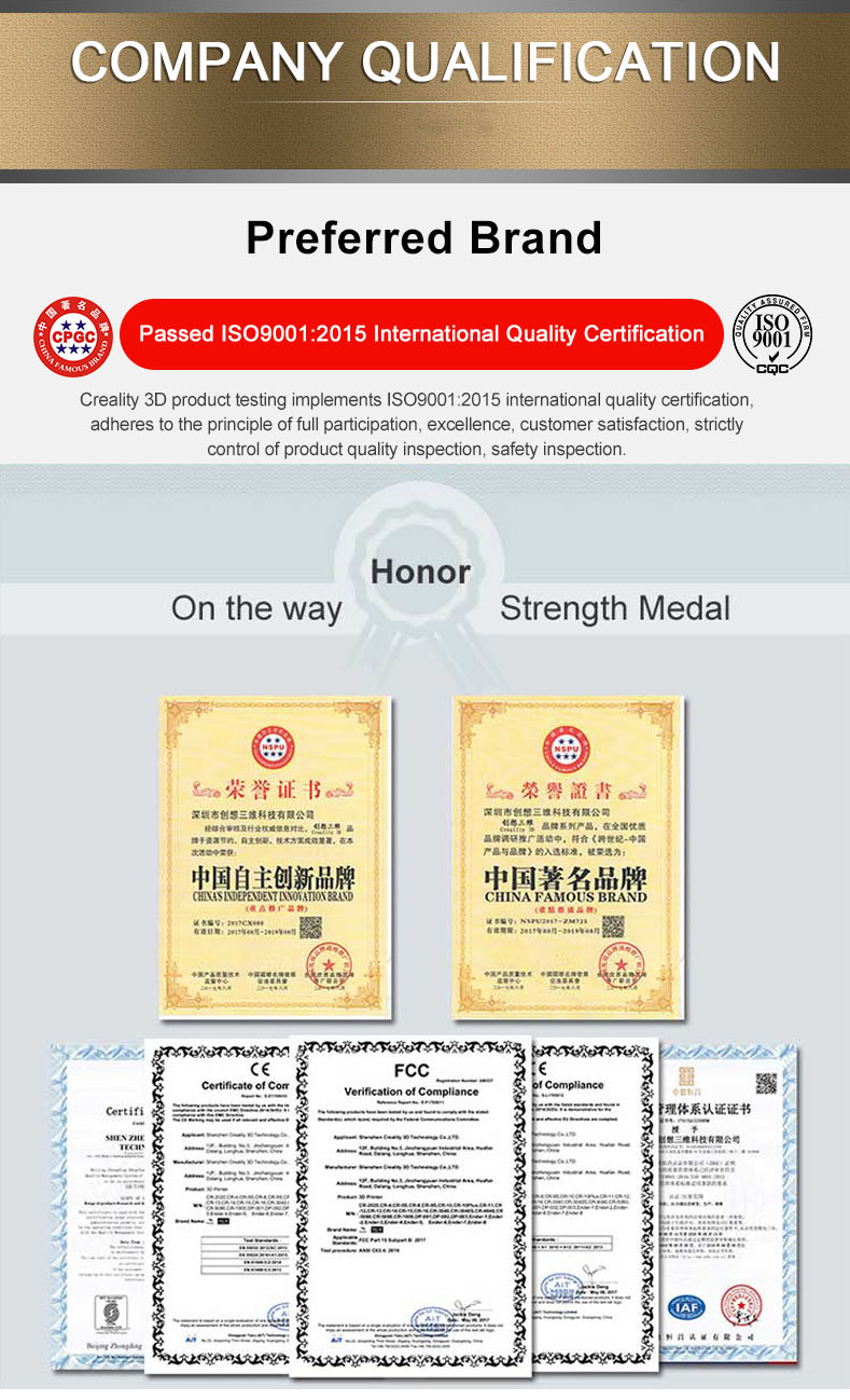 Certificatess of CR-10