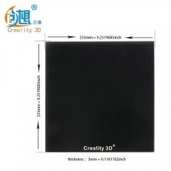 Creality Upgrade Silicon Carbon Ender-3 Build Surface Tempered Glass Plate with Special Chemical Coating 235x235x3mm for MK2 MK3 Hot bed