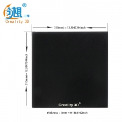 Creality Upgrade Silicon Carbon Heated Bed CR-10 CR-10S Build Surface Tempered Glass Plate with Special Chemical Coating 310x310x3mm parts