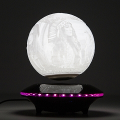 Creality Customize Moon Lamp Levitation, Magnetic Floating LED Night Light with Bluetooth Music Built-in Audio