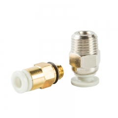 Creality 3D Large Silver And Small Gold Direct Pneumatic Connectors 3D printer Parts for 3D printer Extruder
