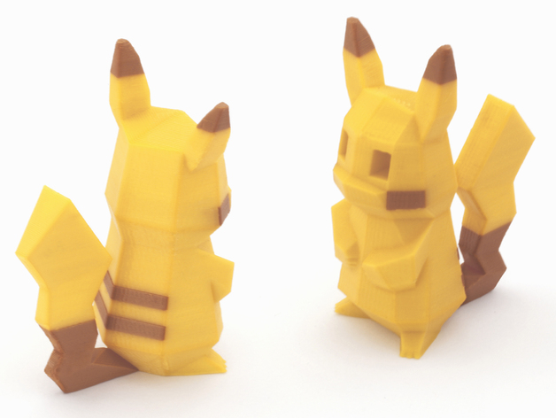 Low-Poly_Pikachu-Multi and Dual Extrusion version_by Agustin Flowalistik