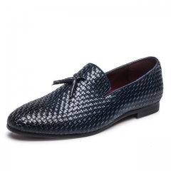 Tassel Weave Men Flats Loafers Gentlemen Shoes