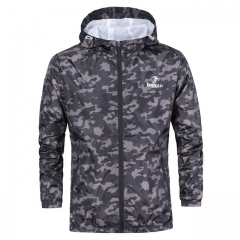 Spring Autumn Mens Casual Camouflage Hoodie Jacket