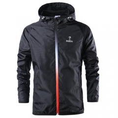 Spring Summer Mens Outerwear Windbreaker Men' S Thin Jackets Hooded Casual Sporting Coat Big Size