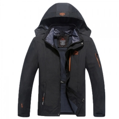 Male Spring Autumn Waterproof Windproof Jacket Coat Tourism Mountain Jacket 8XL