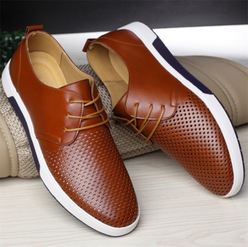 Genuine Leather Oxford Casual Shoes
