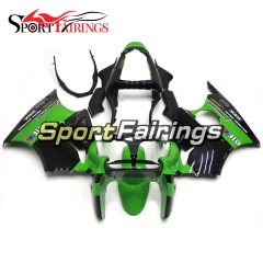 Fairing Kit Fit For Kawasaki ZX6R 2000-2002- Elf Green Black