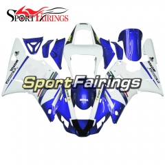 Fairing Kit Fit For Yamaha YZF R1 2000 2001 - White Blue