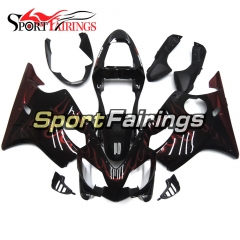 Fairing Kit Fit For Honda CBR600 F4i 2001 - 2003 - Black Red Flame