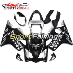 Fairing Kit Fit For Honda CBR600 F4i 2001 - 2003 - Black White Star