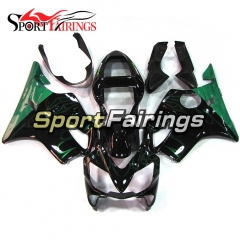 Fairing Kit Fit For Honda CBR600 F4i 2001 - 2003 - Black Green Flame