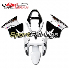 Fairing Kit Fit For Kawasaki ZX6R 2000-2002- White Black