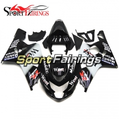 Fairing Kit Fit For Suzuki GSXR600 750 2004 - 2005 -Black White