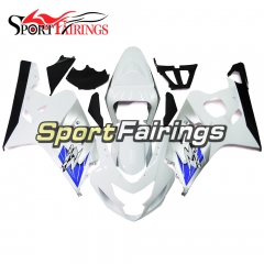 Fairing Kit Fit For Suzuki GSXR600 750 2004 - 2005 - White Blue