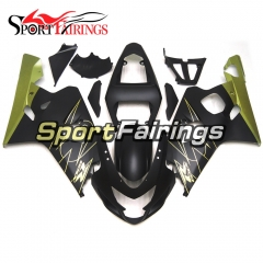 Fairing Kit Fit For Suzuki GSXR600 750 2004 - 2005 - Matte Black Gold