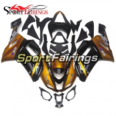 Fairing Kit Fit For Kawasaki ZX6R 2007 - 2008 -Gloss Gold Black