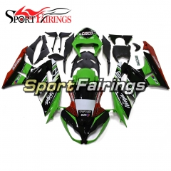 Fairing Kit Fit For Kawasaki ZX6R 2009 - 2010 - Elf Green Black