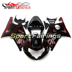 Fairing Kit Fit For Suzuki GSXR1000 K1/K2 2000 - 2002 - Black Red