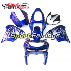 Fairing Kit Fit For Kawasaki ZX9R 1998 - 1999 - Blue White Flame