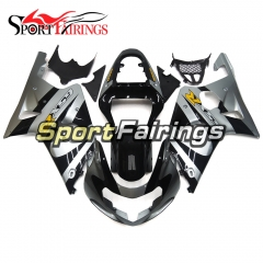 Fairing Kit Fit For Suzuki GSXR1000 K1/K2 2000 - 2002 - Black Silver
