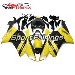 Fairing Kit Fit For Kawasaki ZX6R 2007 - 2008 - Yellow Black