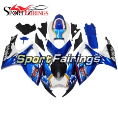 Fairing Kit Fit For Suzuki GSXR600 750 2006 - 2007 - Star Blue White