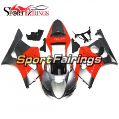 Fairing Kit Fit For Suzuki GSXR1000 K3 2003 - 2004 - Red Silver
