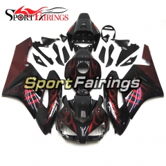 Fairing Kit Fit For Honda CBR1000RR 2004 - 2005 - Black with Red Flame