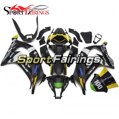 Fairing Kit Fit For Kawasaki ZX10R 2011 - 2015 -Matte Black Yellow