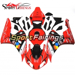 Fairing Kit Fit For Honda CBR1000RR 2006 - 2007 -  Bright Red Black