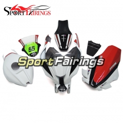 Fiberglass Racing Fairing Kit Fit For Kawasaki ZX10R 2011 - 2015 -White Red