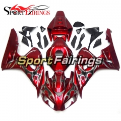 Fairing Kit Fit For Honda CBR1000RR 2006 - 2007 -  Red Silver Flame