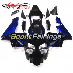 Fairing Kit Fit For Honda CBR600RR F5 2003 - 2004 - Black Blue Flame