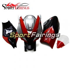 Firberglass Fairing Kit Fit For Aprilia RSV4 1000 2010 - 2015 - Red Silver Black