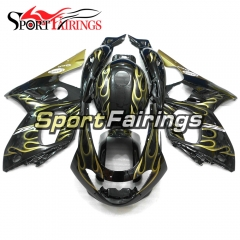 Fairing Kit Fit For Yamaha YZF600R Thundercat 1997 -  2007 - Black Gold Flames