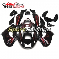 Fairing Kit Fit For Yamaha YZF1000R Thunderace 1997 - 2007 - Black Red Flames