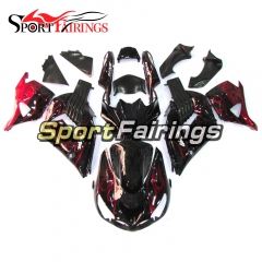 Fairing Kit Fit For Kawasaki ZX-14R /ZZ-R1400 2006 - 2011  -Black Red Flame